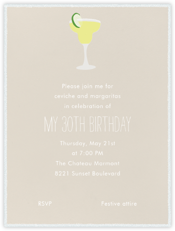 Margarita - Paperless Post - Adult Birthday Invitations