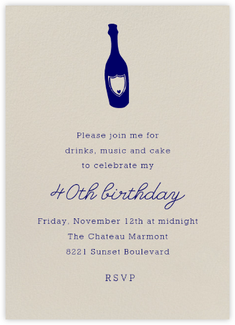 Santa Fe (Tall) - Paperless Post - Adult Birthday Invitations