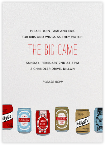 Silk Screen Beers - Paperless Post - Sporting Event Invitations