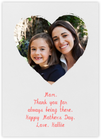 Painted Heart (Photo) - Paperless Post - Mother's Day Cards