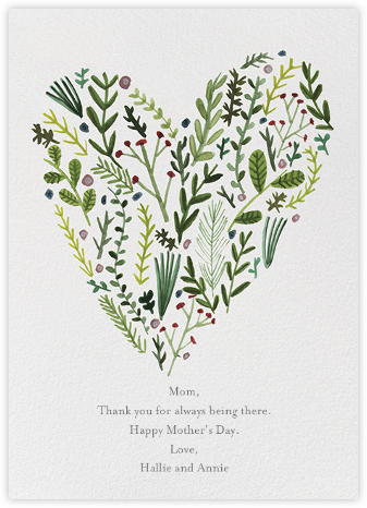 Floral Heart (Lizzy Stewart) - Red Cap Cards - Mother's day cards
