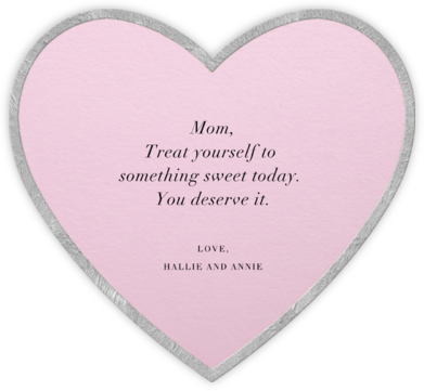 Classic Heart - Pink - Paperless Post - Mother's day cards