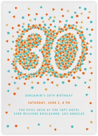 This Year is Shaping Up (Thirty) - Paperless Post - Milestone birthday invitations