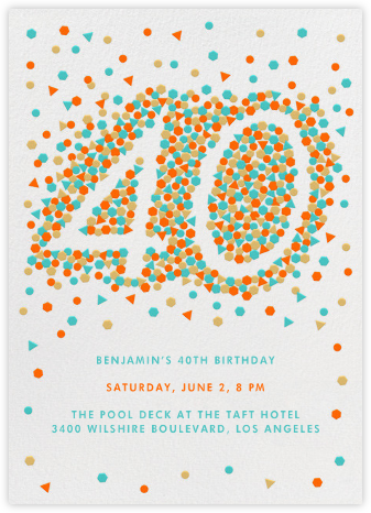 This Year is Shaping Up (Forty) - Paperless Post - Milestone birthday invitations