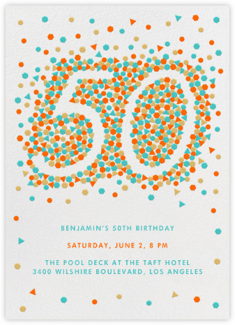 This Year is Shaping Up (Fifty) - Paperless Post - 50th Birthday Invitations