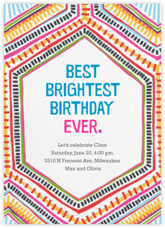 Best Brightest Ever - Crate & Barrel - Adult Birthday Invitations