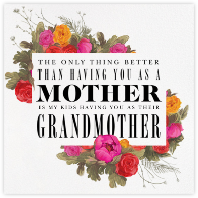Happy (Grand)mother's Day - Paperless Post - Mother's day cards