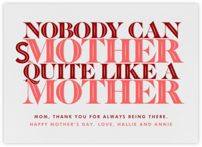 Smother's Day - Paperless Post - Mother's Day Cards