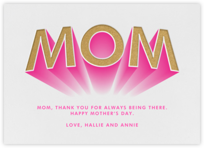 She's a Hero - Paperless Post - Mother's day cards