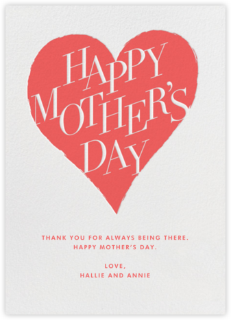 Mother's Day Heart - Paperless Post - Mother's Day Cards