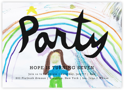 Painting Party (Photo) - Linda and Harriett - Online Kids' Birthday Invitations