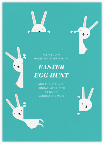 Peek-a-Bun - Paperless Post - Easter Invitations