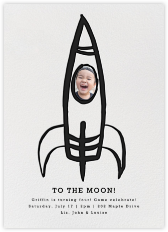 Blast Off - Linda and Harriett - Online Kids' Birthday Invitations