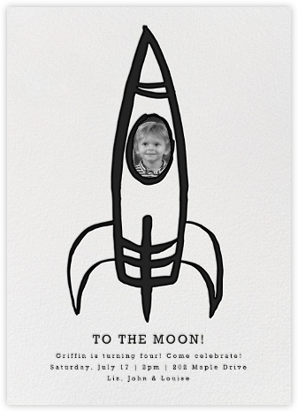 Blast Off - Linda and Harriett - Kids' birthday invitations