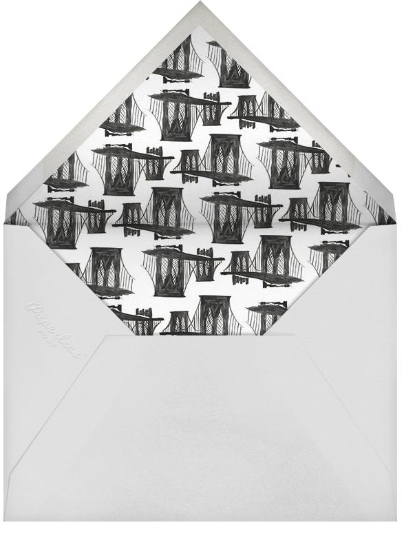 Borough (Menu) - Black - Linda and Harriett - Menus - envelope back