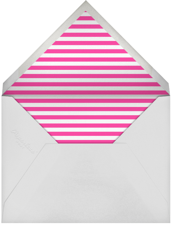 Chevrons (Square) - Bright Pink - Paperless Post - Adult birthday - envelope back