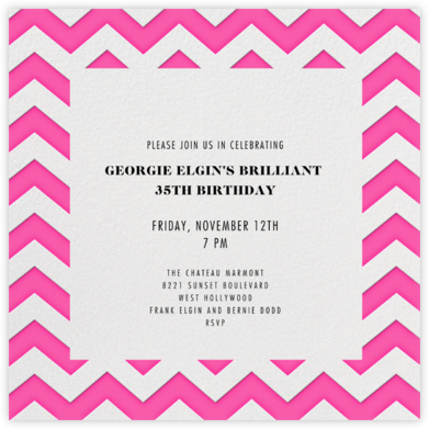 Chevrons (Square) - Bright Pink - Paperless Post