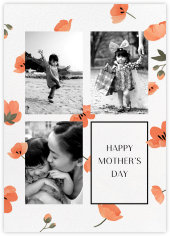 Cascading Poppies - Paperless Post - Mother's day cards