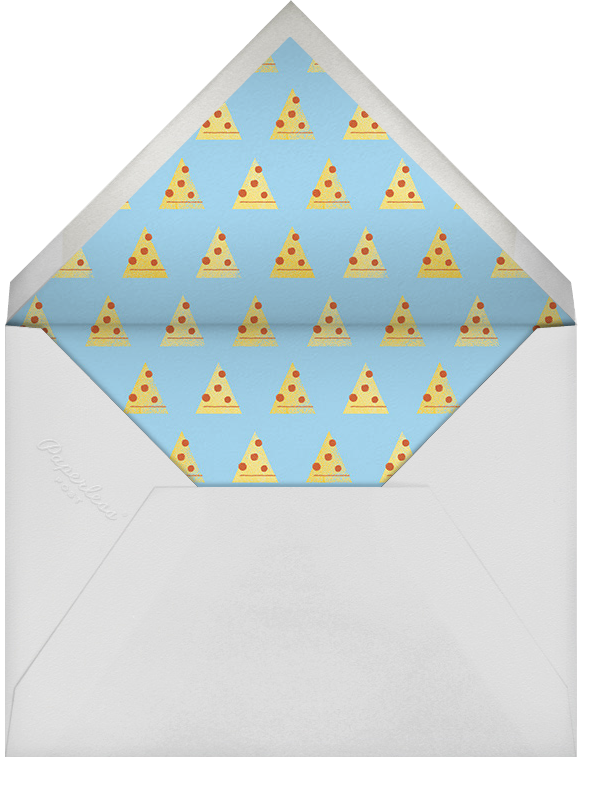 Pizza Pizza - Blue - Paperless Post - Envelope