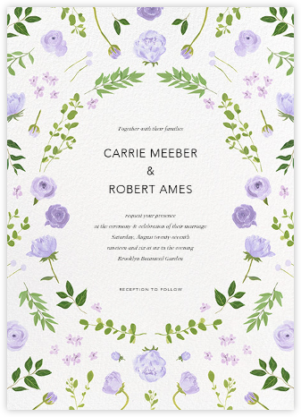 Fleurs d'Eté - Lavender - Paperless Post - Wedding Invitations