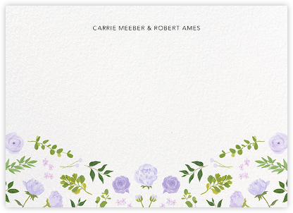 Fleurs d'Eté (Stationery) - Lavender - Paperless Post - Personalized Stationery