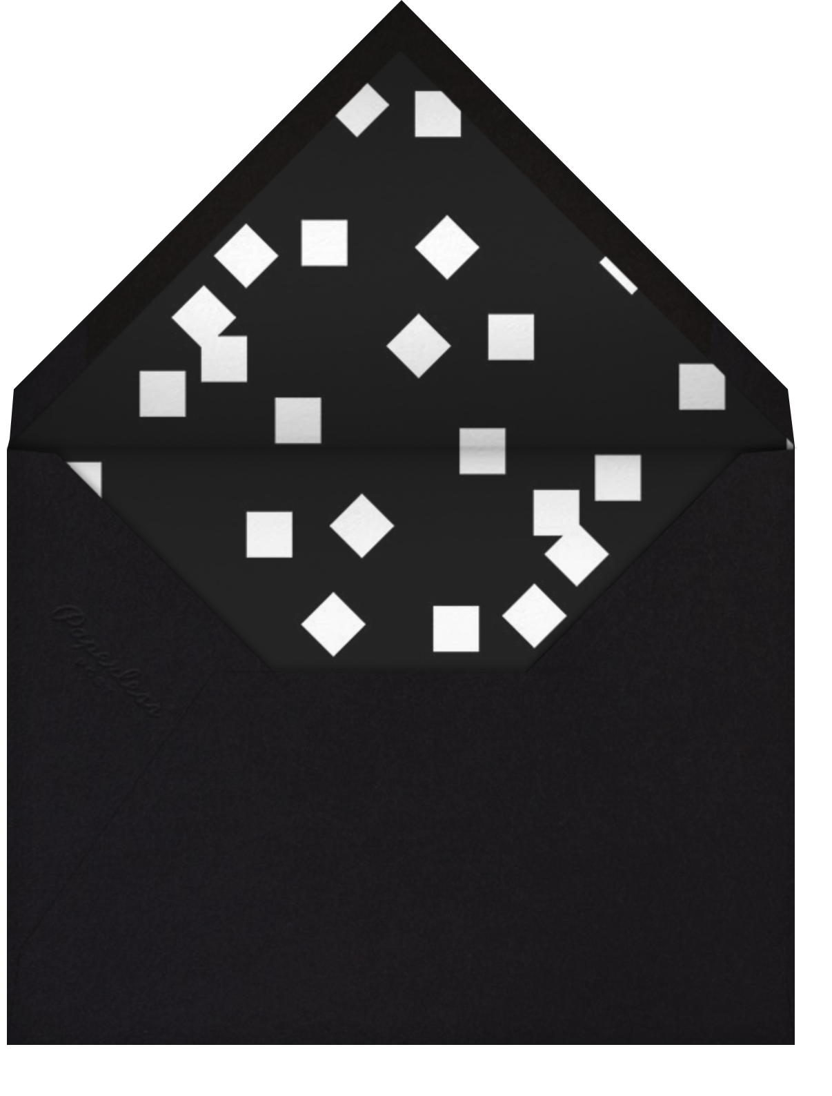 Confetti Martini - Paperless Post - Winter entertaining - envelope back