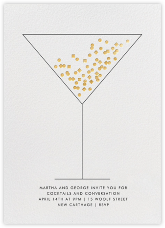 Confetti Martini - Paperless Post - Winter Party Invitations