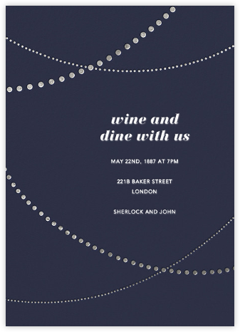 Pearl Bunting - Paperless Post - Online Party Invitations