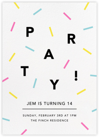 Confection - Multi - Paperless Post - Birthday invitations