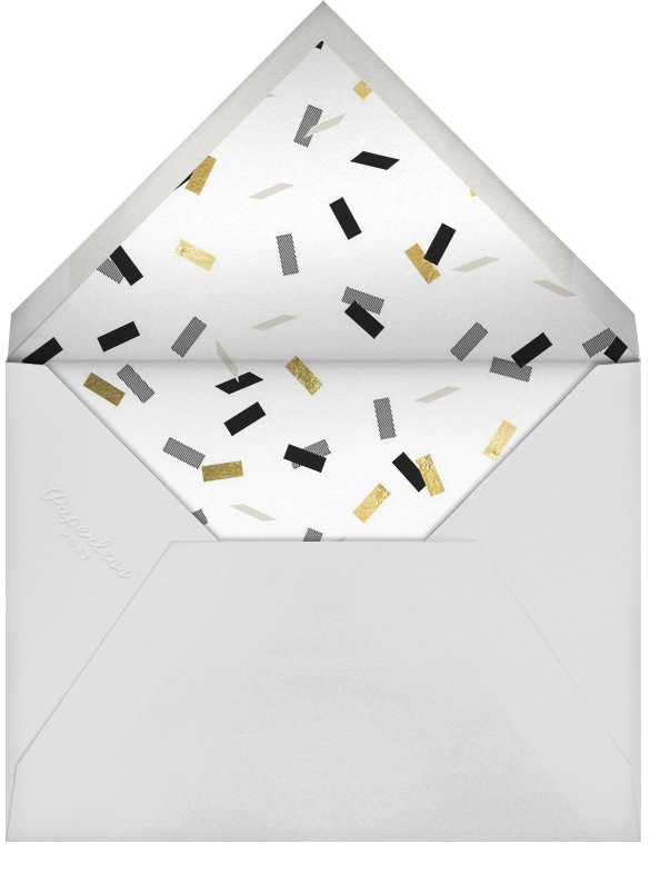 Parade Day - Black - Paperless Post - Engagement party - envelope back