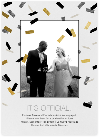 Parade Day - Black - Paperless Post - Engagement party invitations