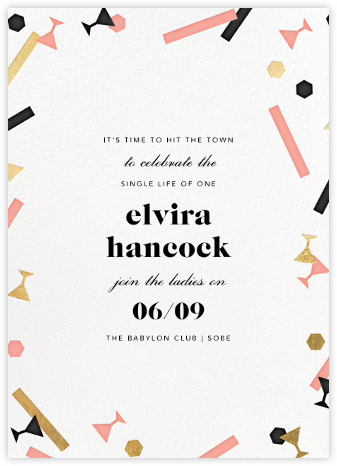 Confettitini - Paperless Post - Bachelorette party invitations