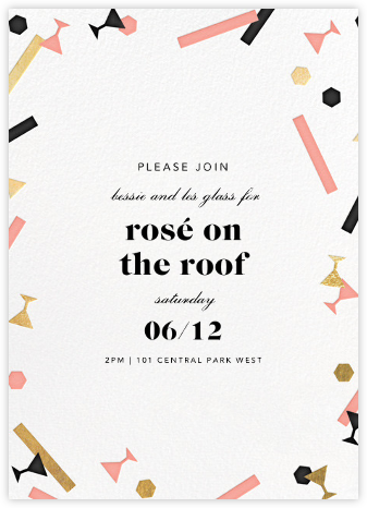 Confettitini - Paperless Post - Reception invitations