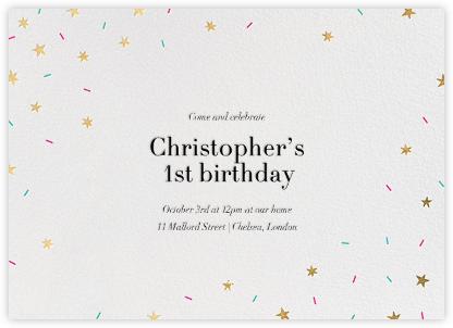 Starfetti - Gold - Paperless Post - Kids' birthday invitations