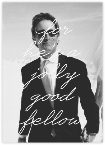 Jolly Good Photo (Him) - Paperless Post - Business Party Invitations
