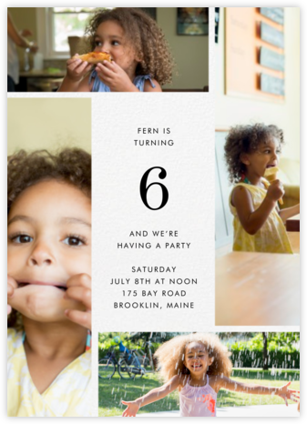Quad - Ivory - Paperless Post - Kids' Birthday Invitations