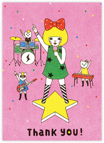 Band of Cats (Naoshi) - Red Cap Cards - Online Thank You Cards