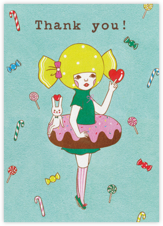 Doughnut Girl (Naoshi) - Red Cap Cards - Thank you cards