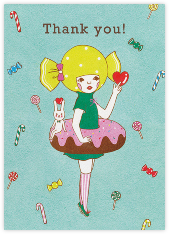 Doughnut Girl (Naoshi) - Red Cap Cards - Online Thank You Cards