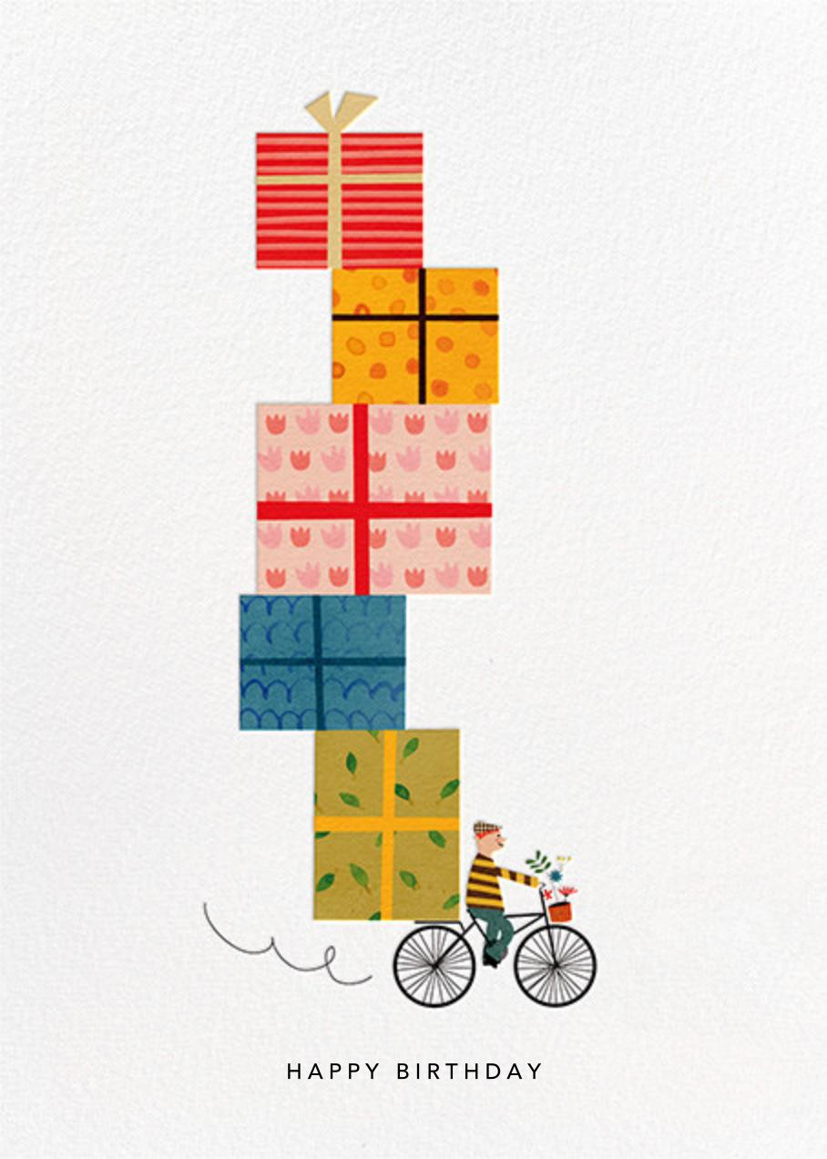 Birthday Bike (Blanca Gómez) - Red Cap Cards - Birthday cards