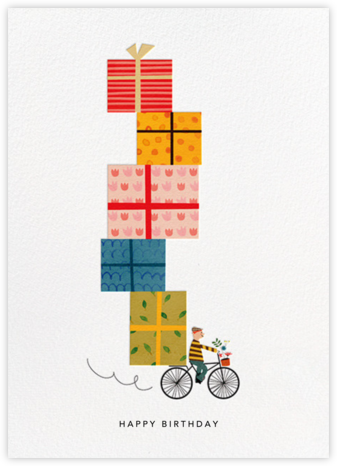 Birthday Bike (Blanca Gómez) - Medium - Red Cap Cards - Birthday Cards for Him