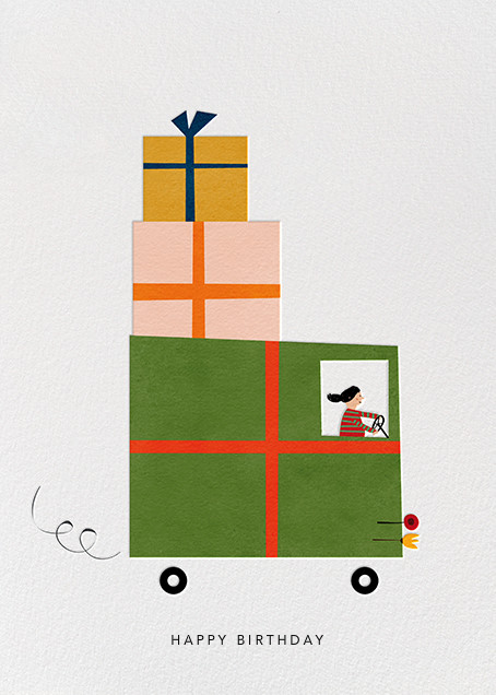 Gift Truck (Blanca Gómez) - Red Cap Cards - Birthday cards