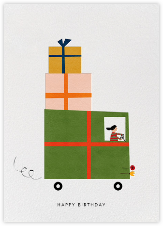 Gift Truck (Blanca Gómez) - Red Cap Cards - Birthday cards
