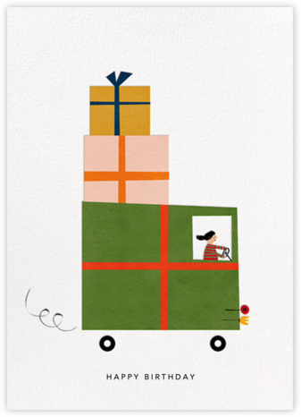 Gift Truck (Blanca Gómez) - Fair - Red Cap Cards - Birthday Cards for Him