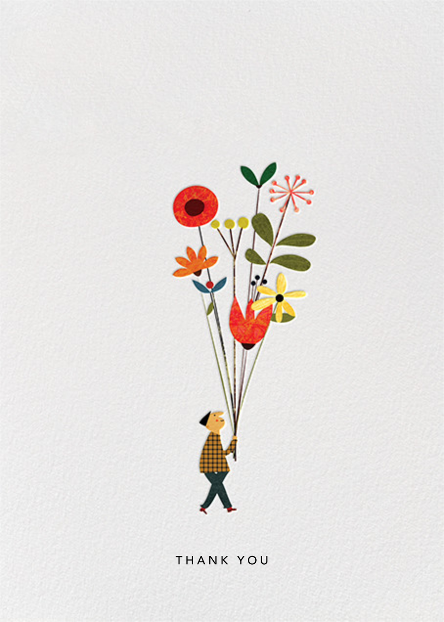 Long Stem Thank You (Blanca Gómez) - Red Cap Cards - Online greeting cards