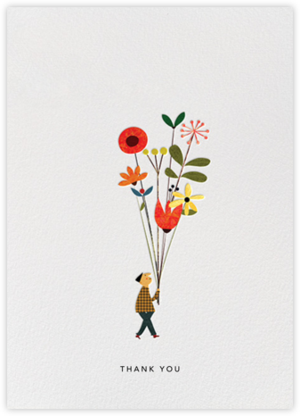 Long Stem Thank You (Blanca Gómez) - Red Cap Cards -