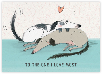 Dog Love (Kate Hindley) - Red Cap Cards - Valentine's Day Cards