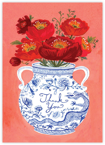 Dragon Vase (Becca Stadtlander) - Red Cap Cards - Online Thank You Cards