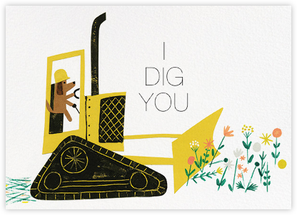 I Dig You (Christian Robinson) - Red Cap Cards - Valentine's Day Cards