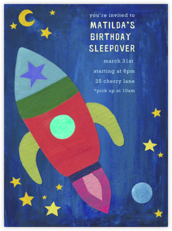 Outer Space - Paperless Post - Kids' birthday invitations